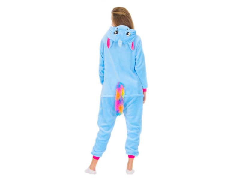 Кигуруми Единорог голубой с радужной гривой - купить в интернет-магазине  kgrm.ru 9f54f5c858f49