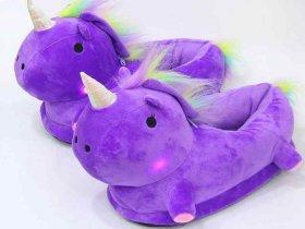 Тапочки единороги светящиеся фиолетовые - купить в интернет-магазине kgrm.ru f1a0020cf2d7c